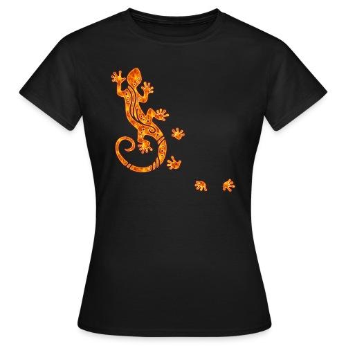 Running Gecko Fire   Frauen Shirt klassisch - Frauen T-Shirt