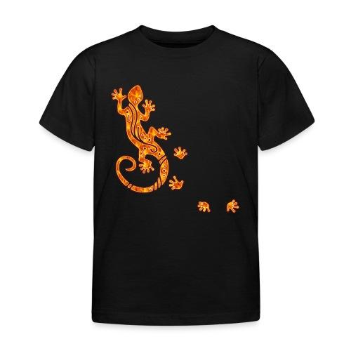 Running Gecko Fire   Kinder Shirt - Kinder T-Shirt