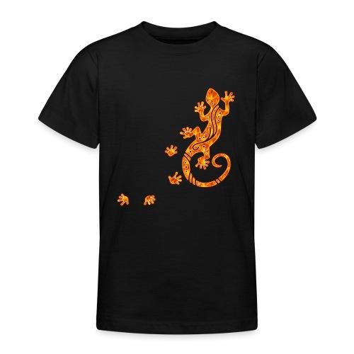 Running Gecko Fire   Teenager Shirt - Teenager T-Shirt