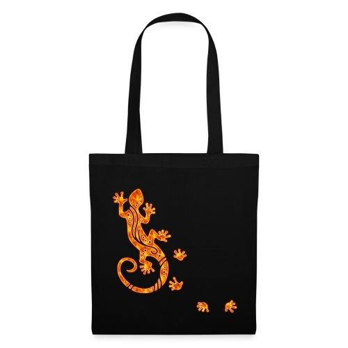 Running Gecko Fire   Stofftasche - Stoffbeutel
