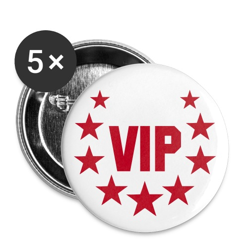 badge VIP - Buttons groot 56 mm (5-pack)