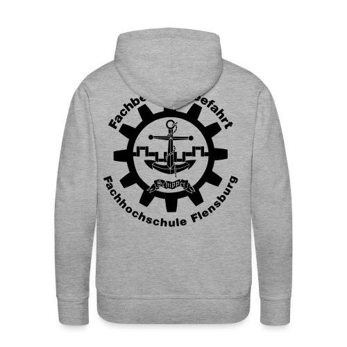 Seemann Kapuzenpullover schwarzes Logo - Männer Premium Hoodie