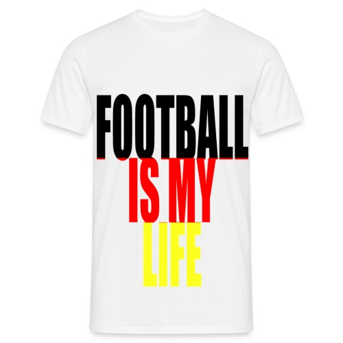 T shirt homme football is my life allemagne - T-shirt Homme