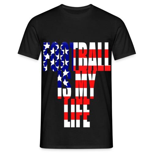 T shirt homme football is my life amérique - T-shirt Homme