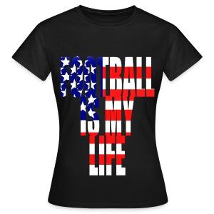 T shirt femme football is my life amérique - T-shirt Femme