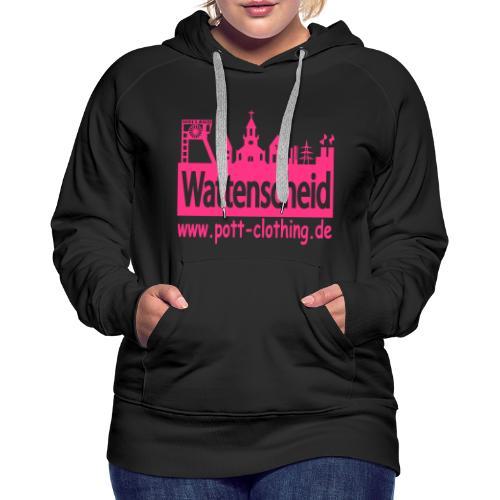Skyline Wattenscheid by Ruhrpott Clothing - Frauen Kapuzenpulli - Frauen Premium Hoodie