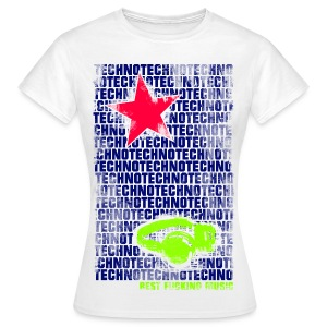 Girl Shirt Techno Star #1 - Frauen T-Shirt