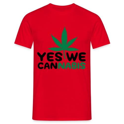 Yes we Cannabis - Mannen T-shirt