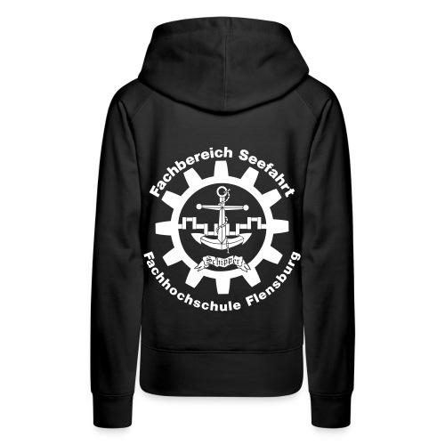 Seefrau Kapuzenpullover weißes Logo - Frauen Premium Hoodie