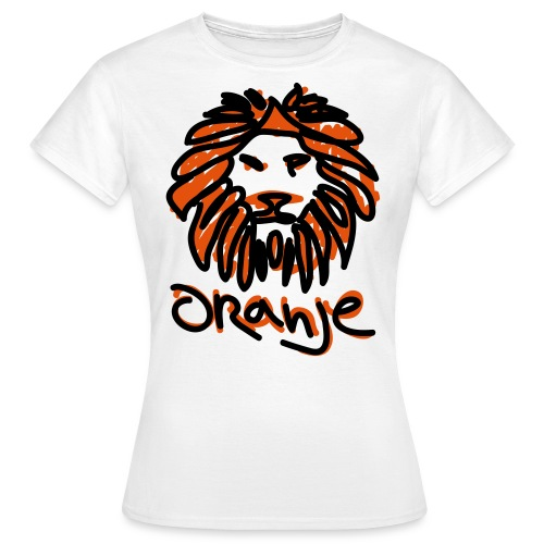 Oranje Leeuw Wit EK 2012 (Vrouwen) - Vrouwen T-shirt