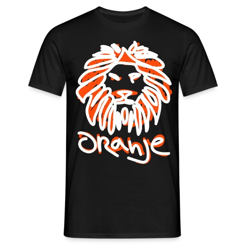 Oranje Leeuw Zwart EK 2012 (Mannen) - Mannen T-shirt