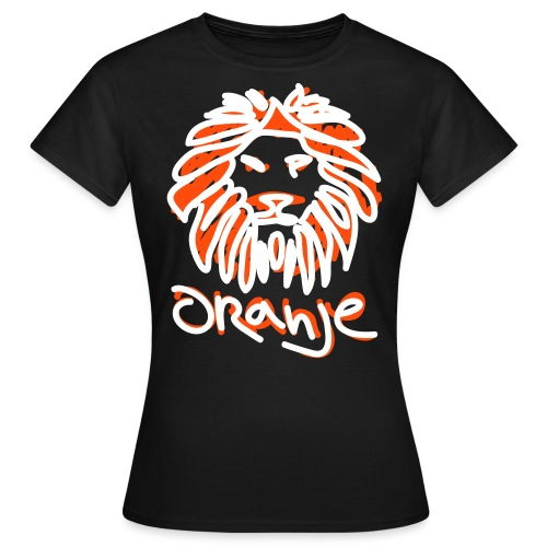 Oranje Leeuw Zwart EK 2012 (Vrouwen) - Vrouwen T-shirt