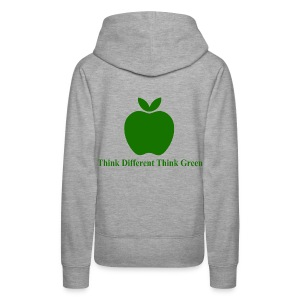 Think different think green - Sweat-shirt à capuche Premium pour femmes