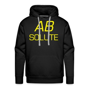 Absolute Coloured Hoody With Yellow Text - Men's Premium Hoodie