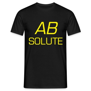 Absolute Coloured Shirt With Yellow Text - Men's T-Shirt