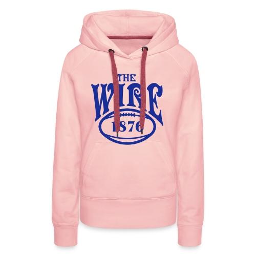 Wire - Pink Hoodie - Ladies - Women's Premium Hoodie