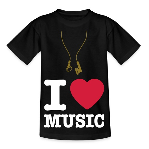 I Love Music Classic Teenager T-Shirt - Teenage T-Shirt