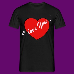 I LOVE YOU ! (HEART) - T-shirt Homme