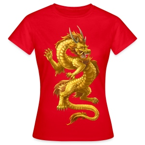 golden chinese dragon - Frauen T-Shirt