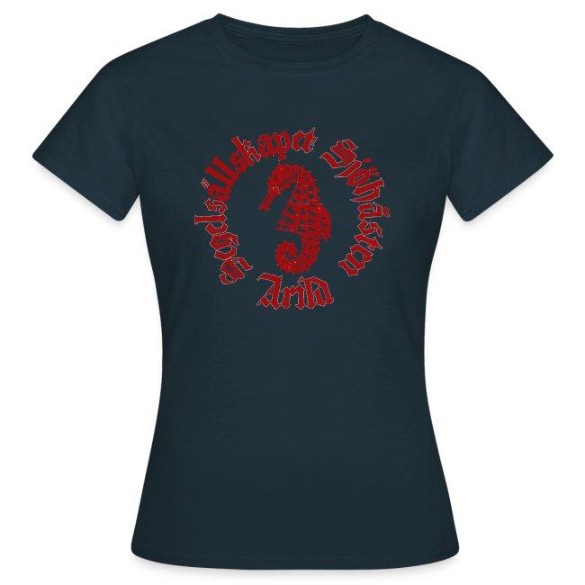Sjöhästen Klassisk T-shirt dam stor logga