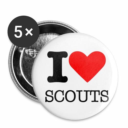 Badges I Love Scouts - Lot de 5 petits badges (25 mm)