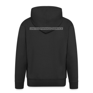 [UPS] Männer Kapuzenjacke, schwarz, Aufdruck in Grau - Männer Premium Kapuzenjacke