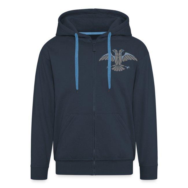 [UPS] Männer Kapuzenjacke, navy-blau, Aufdruck in Grau/Silber-Matt