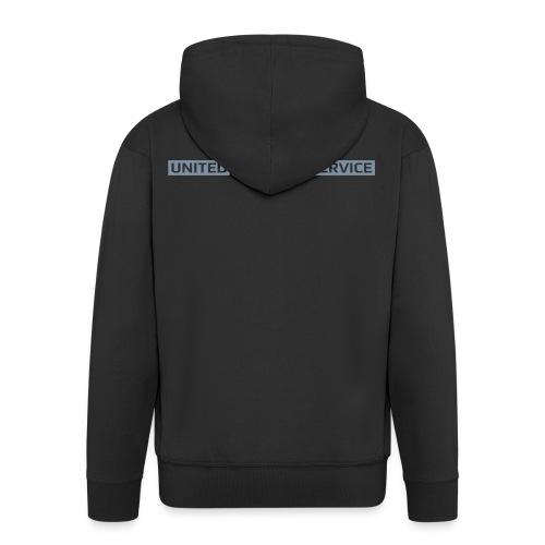 [UPS] Männer Kapuzenjacke, schwarz, Aufdruck in Grau/Silber-Matt - Männer Premium Kapuzenjacke