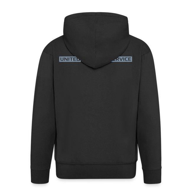 [UPS] Männer Kapuzenjacke, schwarz, Aufdruck in Grau/Silber-Matt