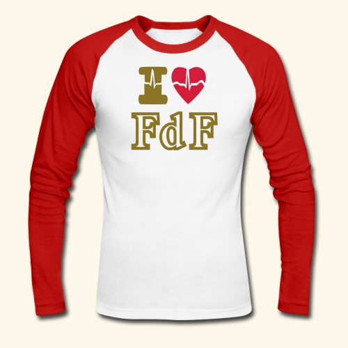 I LOVE FDF - T-shirt baseball manches longues Homme