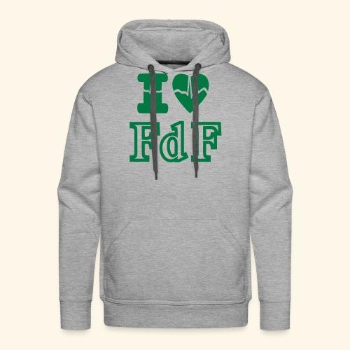 I LOVE FDF - Sweat-shirt à capuche Premium pour hommes