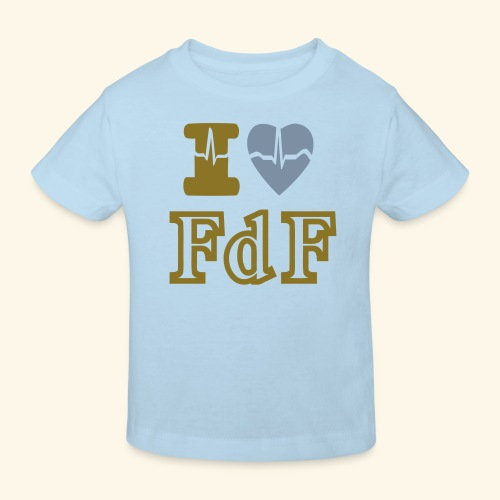 I LOVE FDF - T-shirt bio Enfant