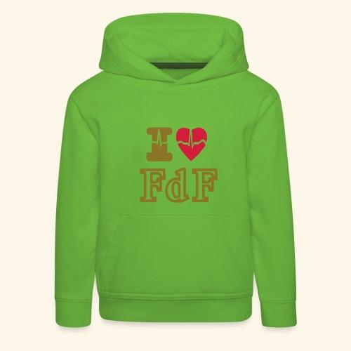 I LOVE FDF - Pull à capuche Premium Enfant