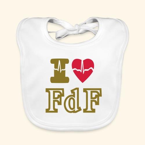 I LOVE FDF - Bavoir bio Bébé