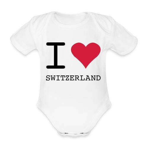 I love Switzerland Baby-Body - Baby Bio-Kurzarm-Body