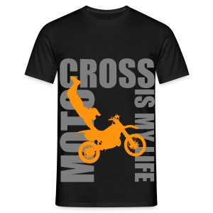 T shirt homme motocross is my life - T-shirt Homme