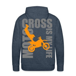 Sweat à capuche homme motocross is my life - Sweat-shirt à capuche Premium pour hommes