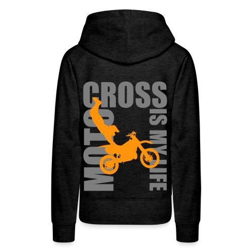 Sweat à capuche femme motocross is my life - Sweat-shirt à capuche Premium pour femmes