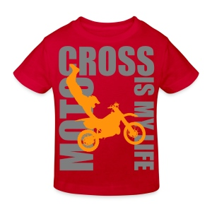 T shirt enfant motocross is my life - T-shirt bio Enfant