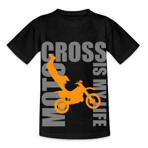 T shirt enfant motocross is my life - T-shirt Enfant