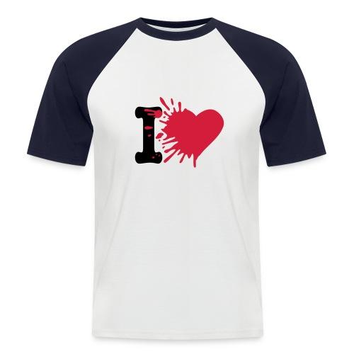 i love .. - T-shirt baseball manches courtes Homme