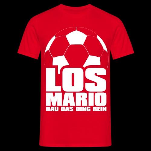 Fußball - Los Mario, hau das Ding rein (weiss) - Männer T-Shirt