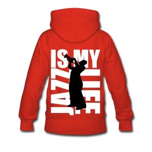 Sweat à capuche femme jazz is my life - Sweat-shirt à capuche Premium pour femmes