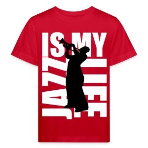 T shirt enfant jazz is my life - T-shirt bio Enfant