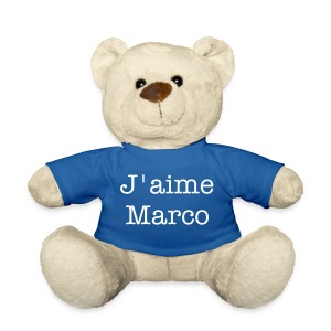 OURS BLANC J'AIME MARCO - Nounours