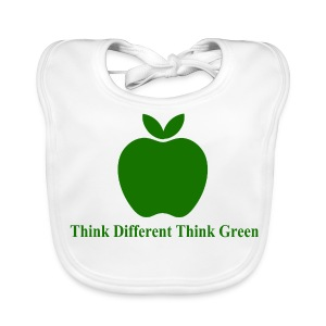 Think different think green - Bavoir bio Bébé