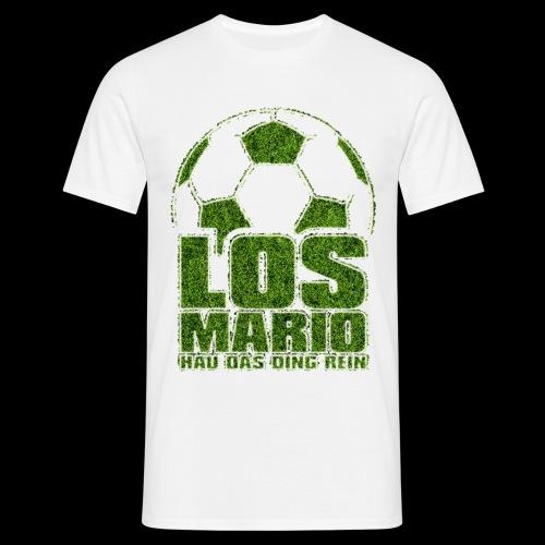 Fußball - Los Mario, hau das Ding rein (Gras) - Männer T-Shirt