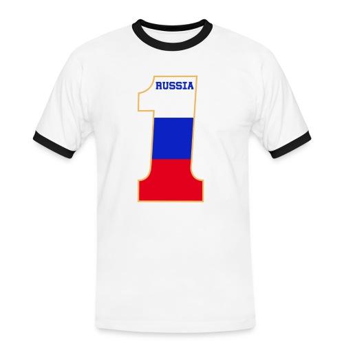 Russia Fanshirt Number One Red - Männer Kontrast-T-Shirt