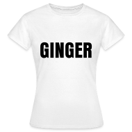 T-Shirts ~ Women's T-Shirt ~ glee born this way ginger (F)