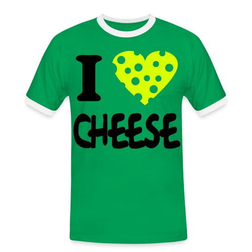 Men's Ringer Shirt - cheese,i,love,stoner,tshirt,uk